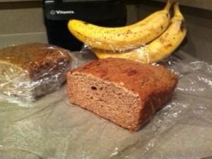 Banana Bread (vegan, gluten free, no added sugars)