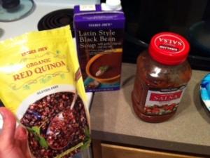 soup quinoa salsa