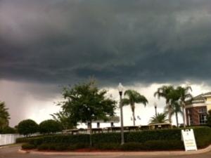 storm at golf