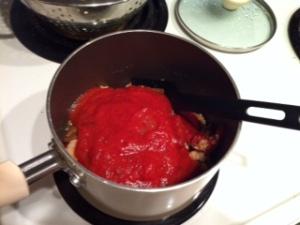 tomato on veggies