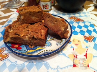 apple strudle blondies