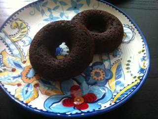 Chocolate Pumpkin Doughnuts (V, GF)