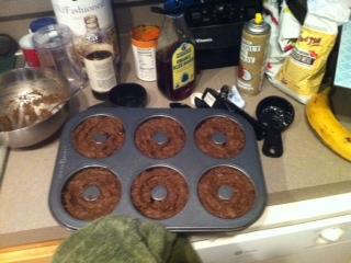 Chocolate Pumpkin Doughnuts (v,gf)