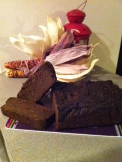 Double Chocolate Pumpkin Bread (grain free, vegan)