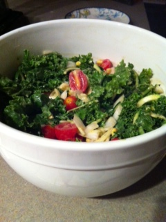 Miso Kale Salad (Vegan)