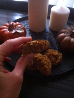 Oatmeal Pumpkin Walnut Cookies (GF, V)