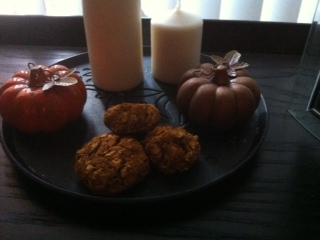 Oatmeal Pumpkin Walnut Cookies