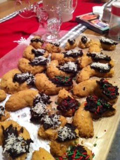 Christmas cookies with coconut oil