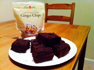 Ginger Brownies v, gf